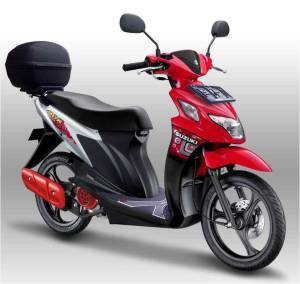 New Suzuki Nex Celebration Red – Brilliant White (JWP) dengan full Aksesoris