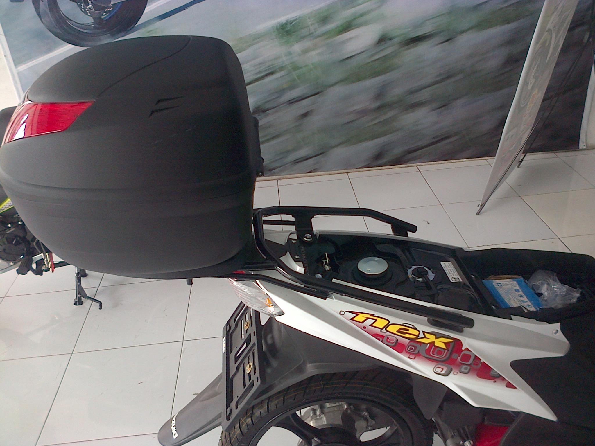 SATRIA FU150 Tambahan Sedikit Tentang Suzuki Nex Dengan Top CaseBox