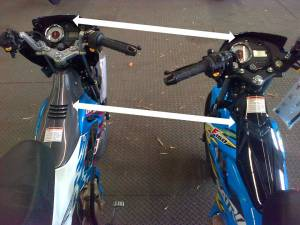Tampilan Speedometer dan Cover Frame
