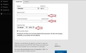 tinggal isi sesuai Kartu Kredit yang dimiliki