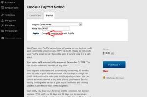 pembayaran menggunakan ac PayPal tingal klik aja