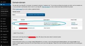 jadikan dan pilih yang dot com serta klik update primary domain